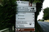 Irish Road Sign 1 with the name Dingle covered